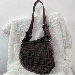 Fendi Authentic Brown Monogram Shoulder Bag